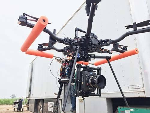 Drone movie production Alexa Mini